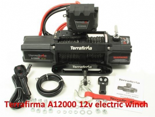 Terrafirma 12,000lb winch with synthetic rope